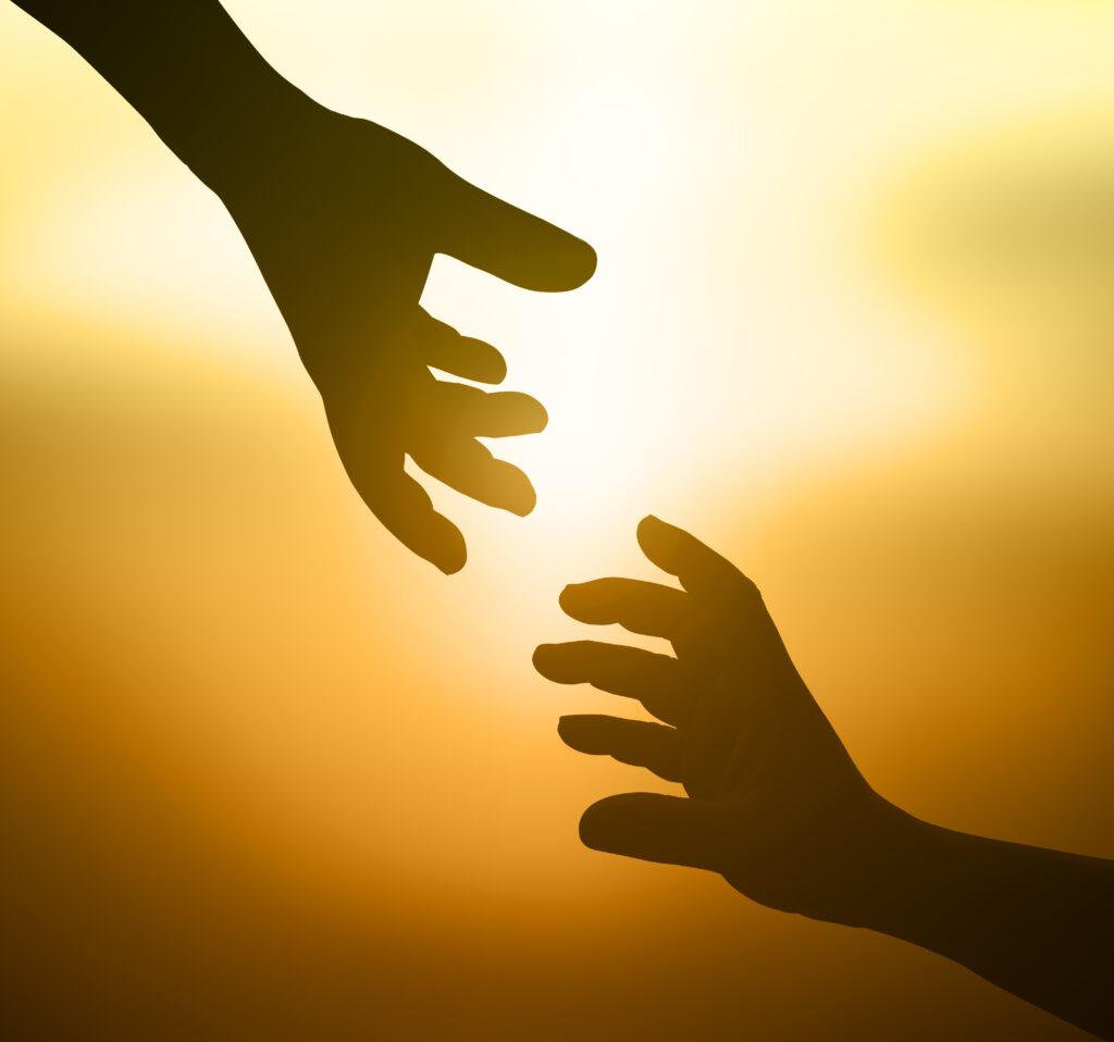 Jemandem die Hand reichen, Christi Himmelfahrt, Auffahrt